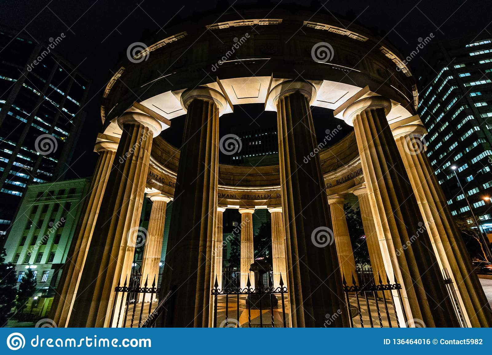 Brisbane, Australia - 2019. Anzac memorial for Australian and New Zealand Army Corps, Brisbane, Australia.