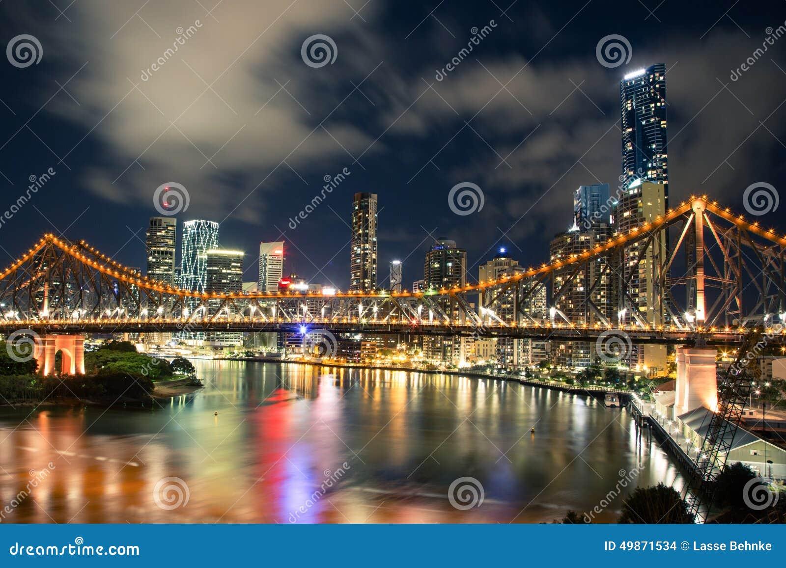 Brisbane bij nacht