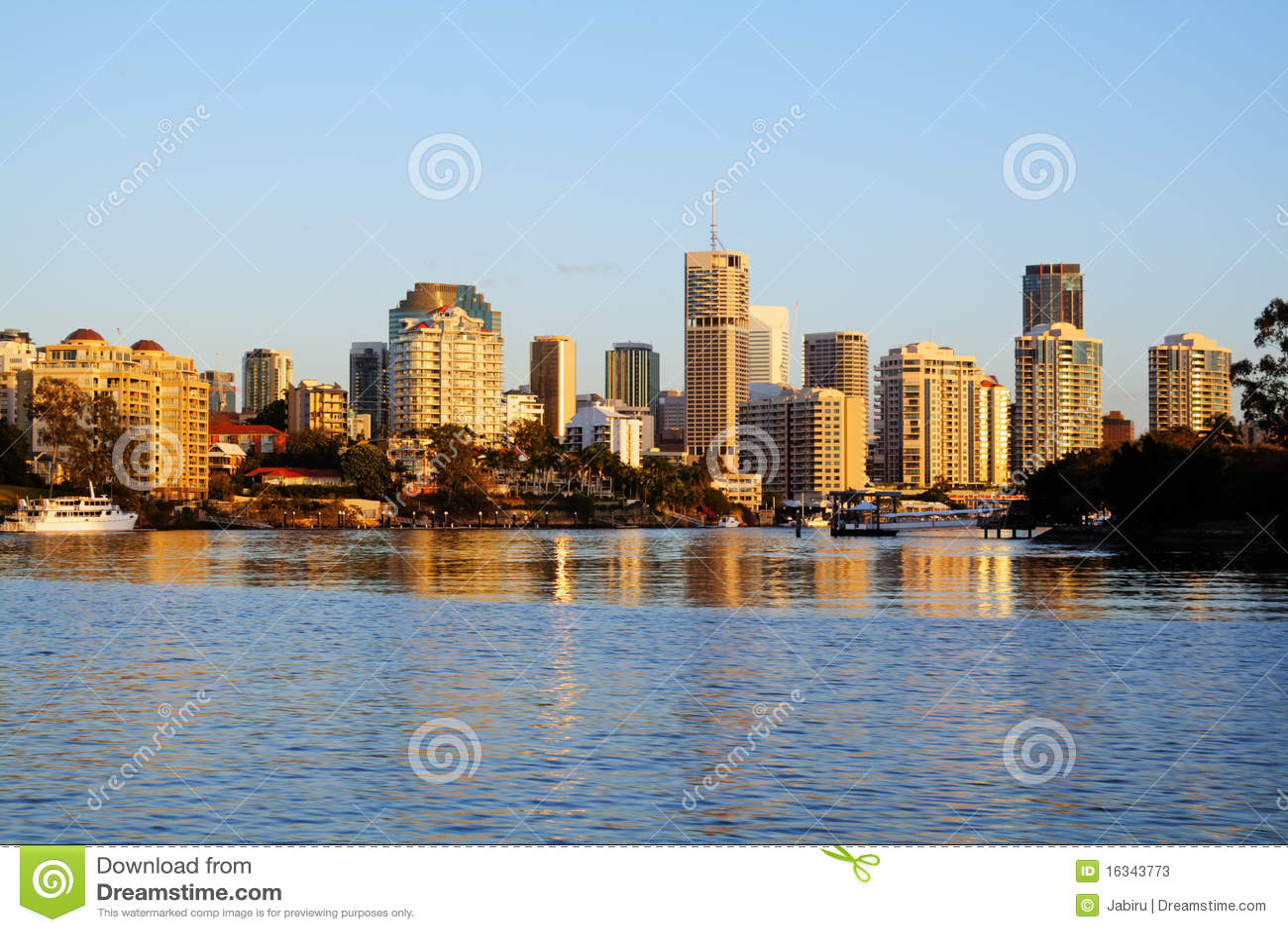 Brisbane City Skyline Australia Stock Image - Image of ...