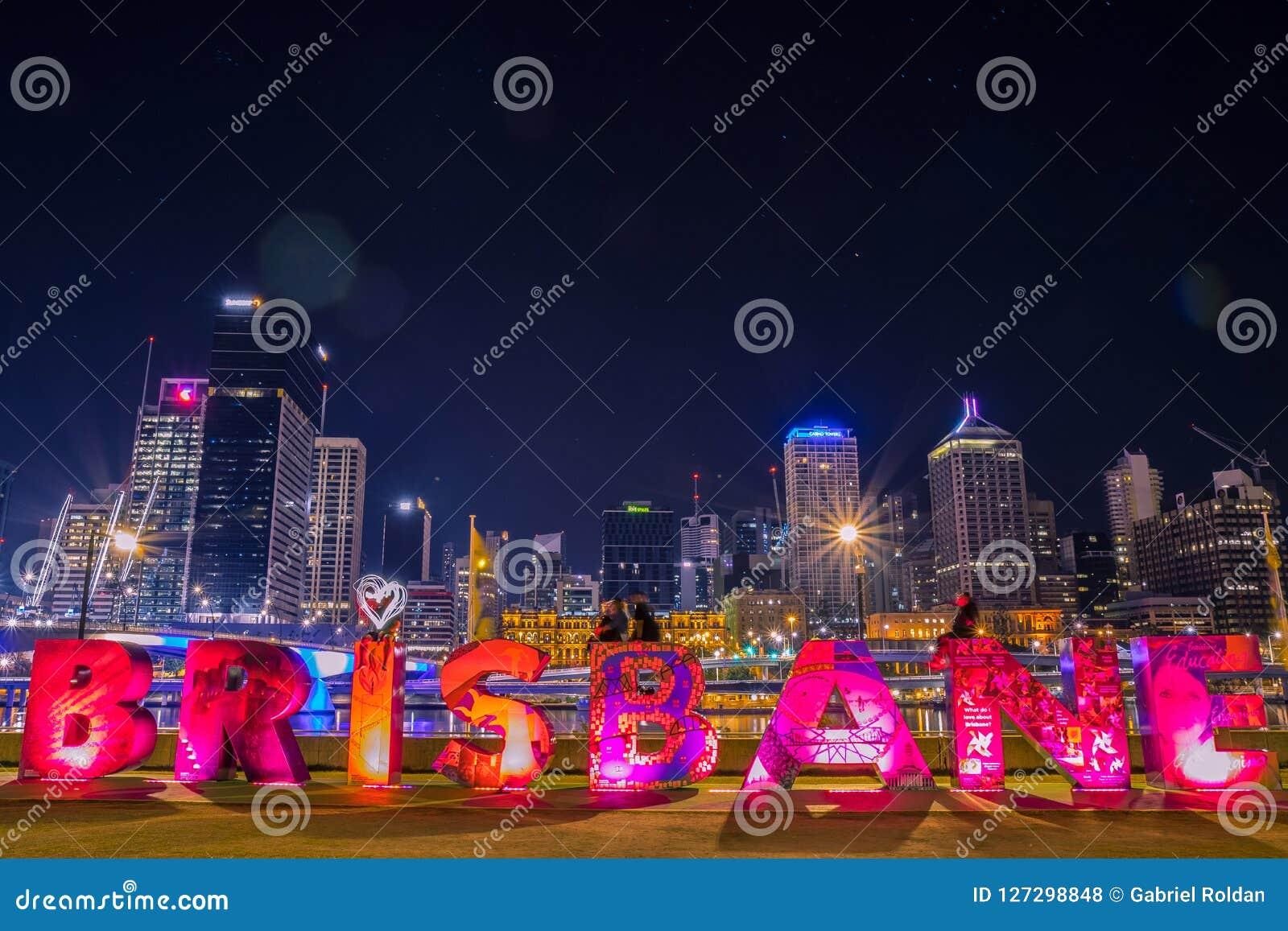 Brisbane die in stad schrijven