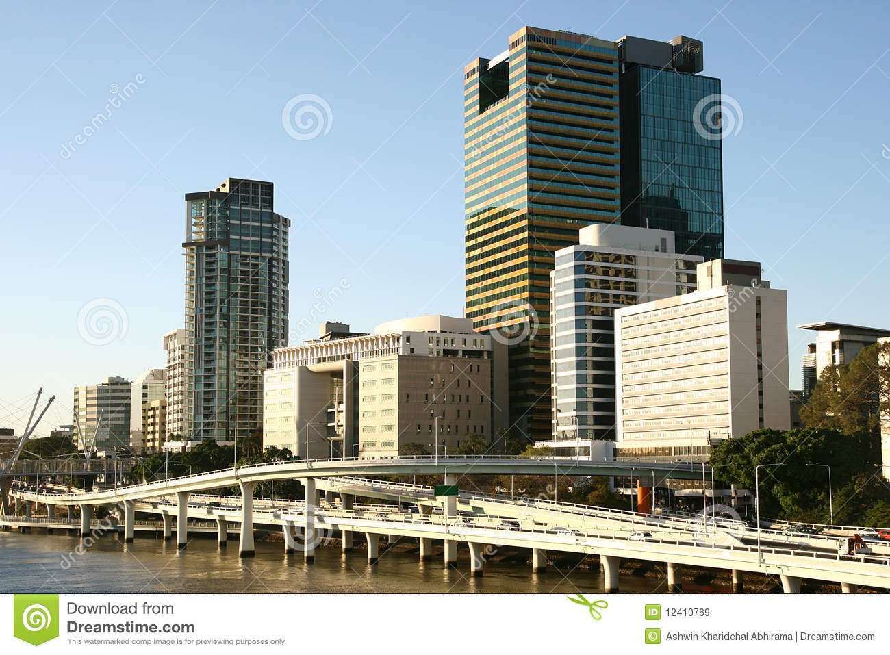 Brisbane Skyline. stock image. Image of city, skyline ...