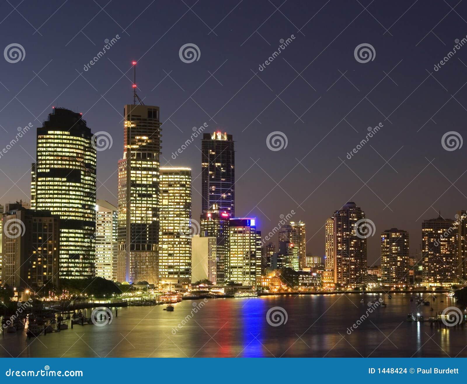 Brisbane-Stadt nachts