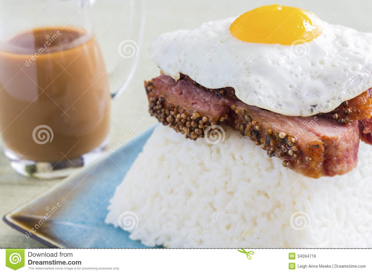 Brisket loco moco stock photo image of meal meat for Authentic hawaiian cuisine