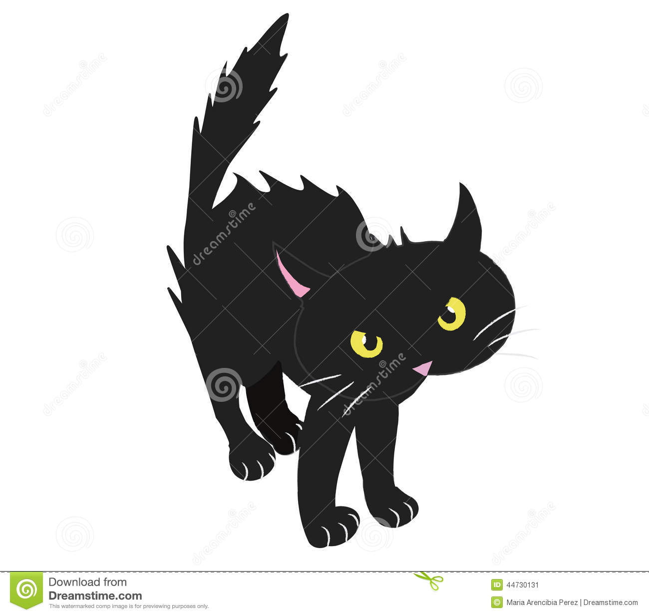 Bristled black cat stock vector image 44730131