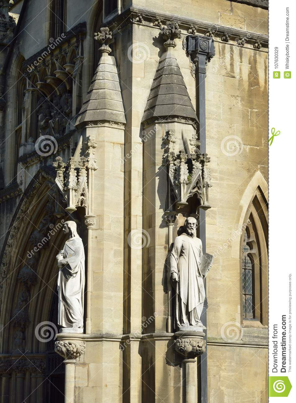 Bristol Cathedral Porch Statues