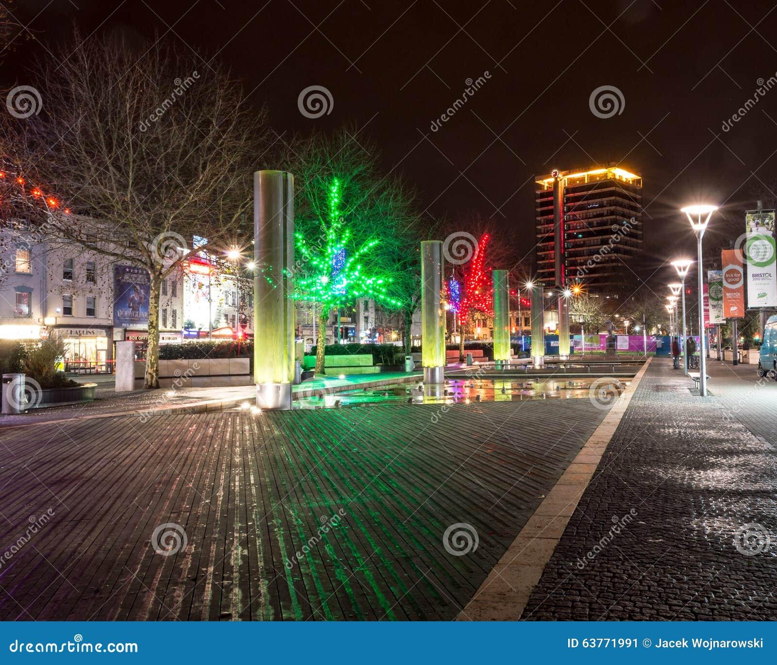 Bristol Christmas Lights, Colston Avenue Editorial Photo - Image ...