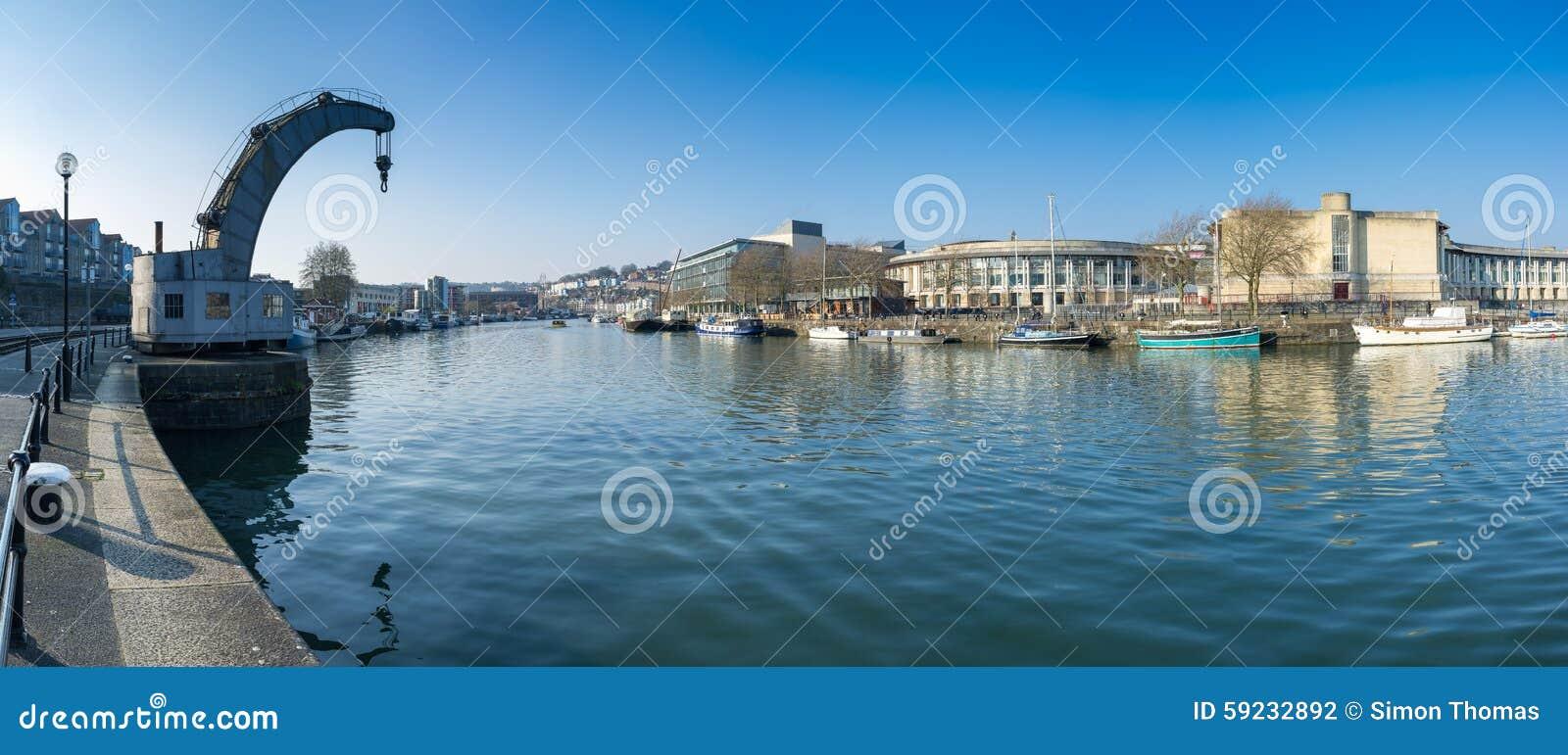 Download Bristol City Centre Docks fotografía editorial. Imagen de muelles - 59232892
