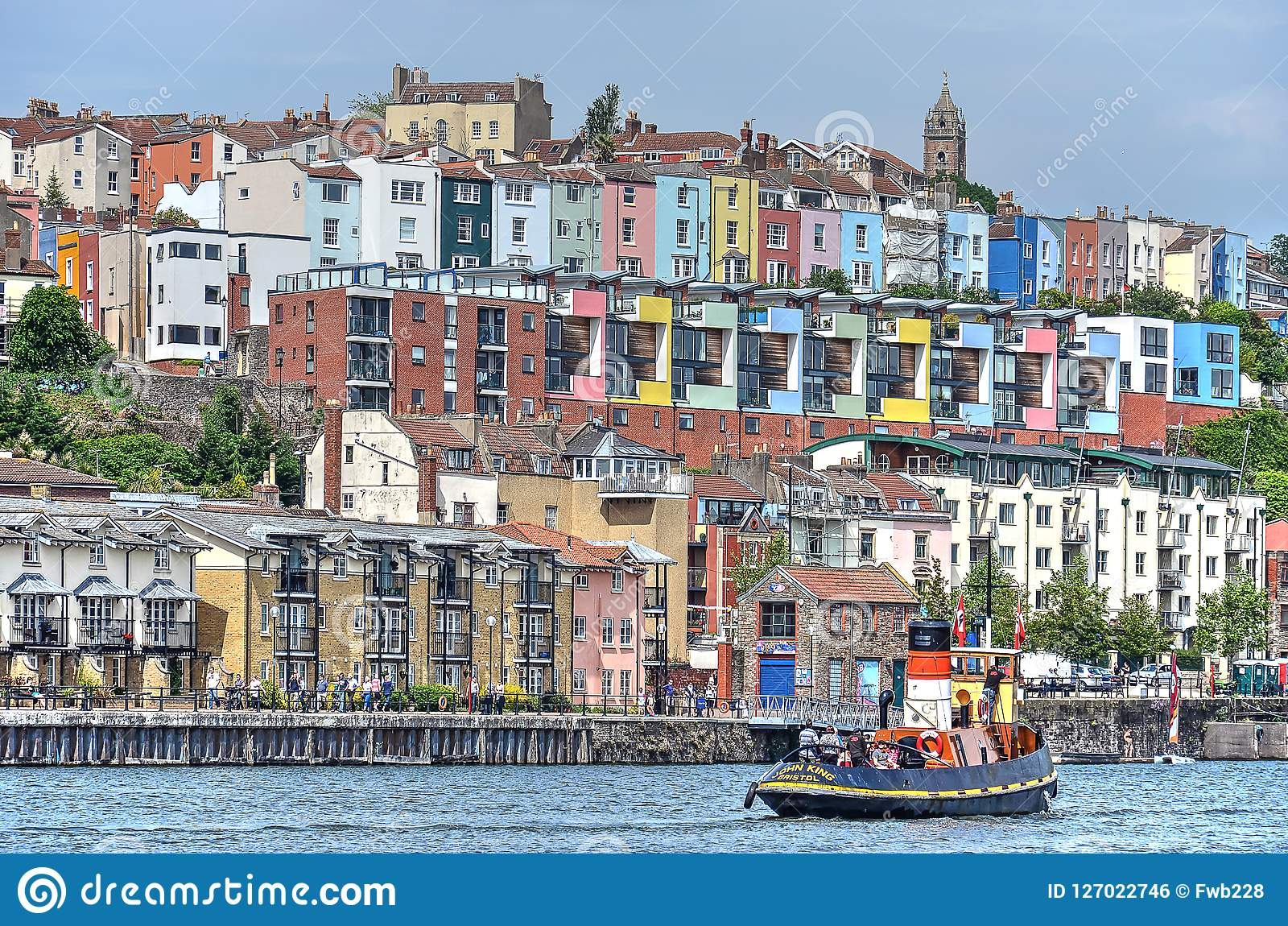 Colorful Housing In Bristol Editorial Photo - Image of ...