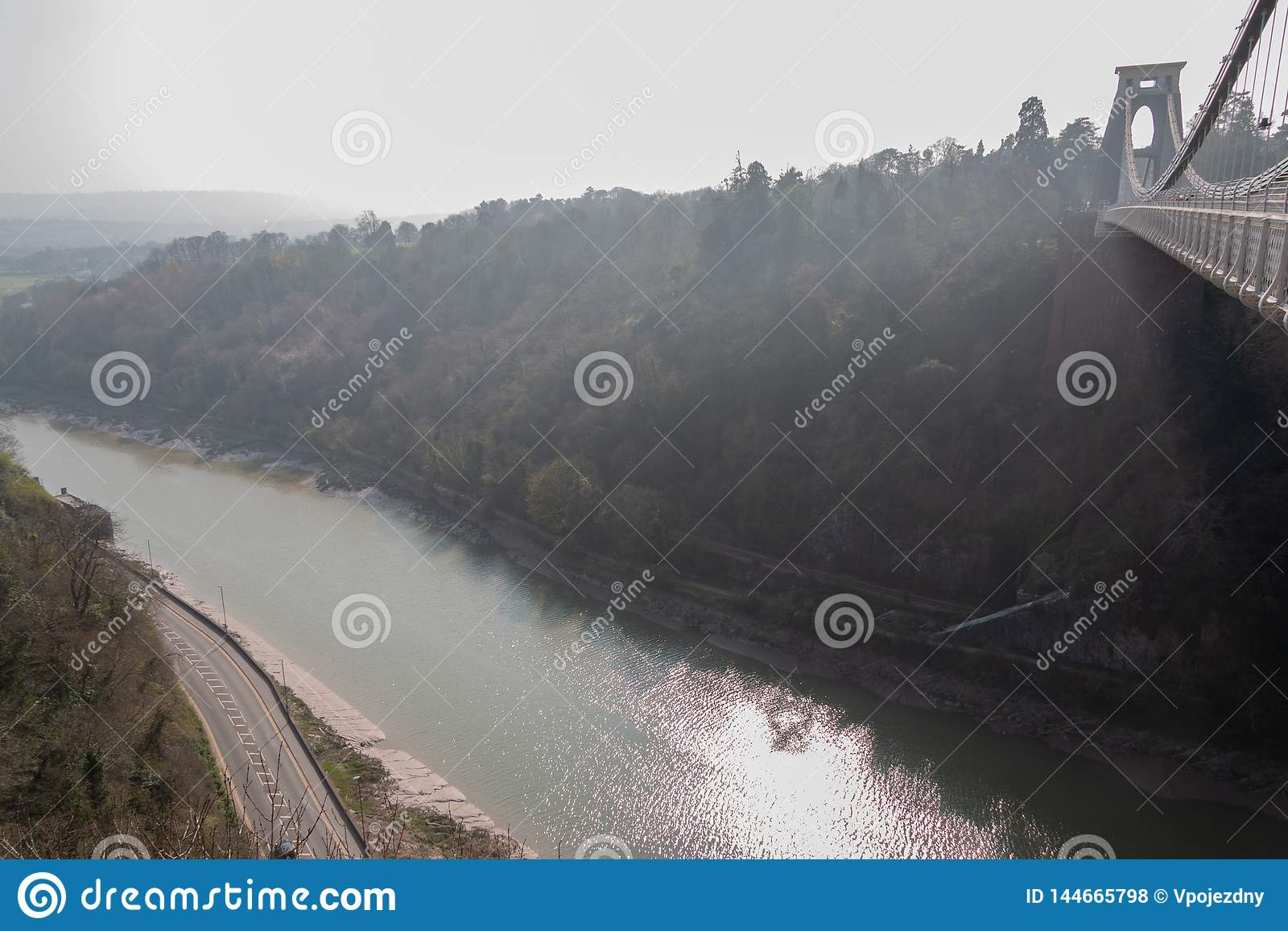 Bristol-Hängebrücke über dem Fluss Avon