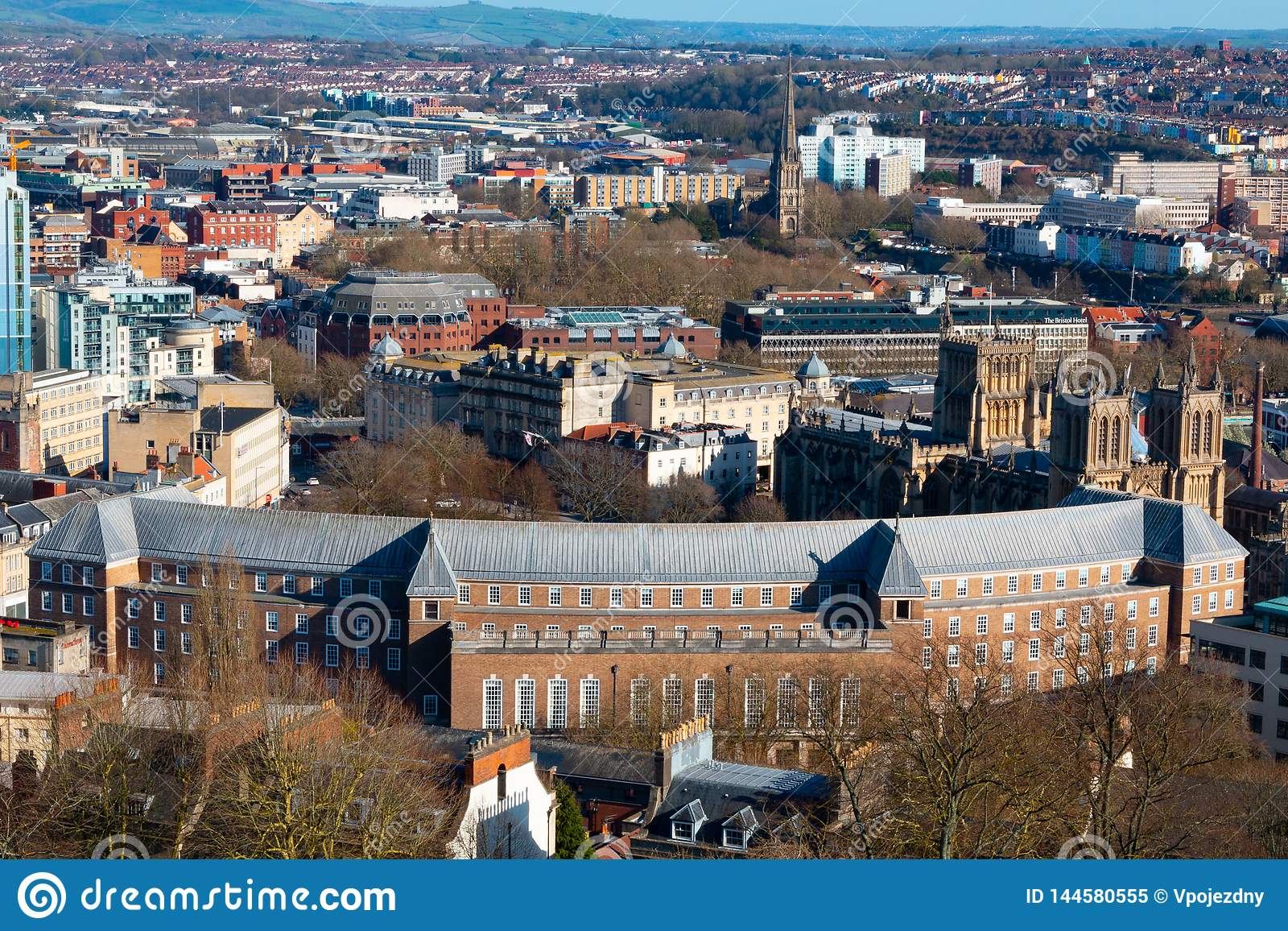 Bristol from above on a sunny day