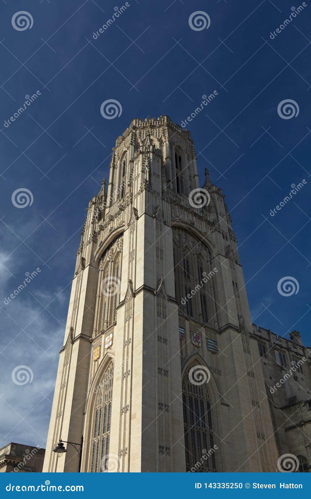 Bristol, Royaume-Uni, le 21 février 2019, veut la tour de construction commémorative à l université de Bristol