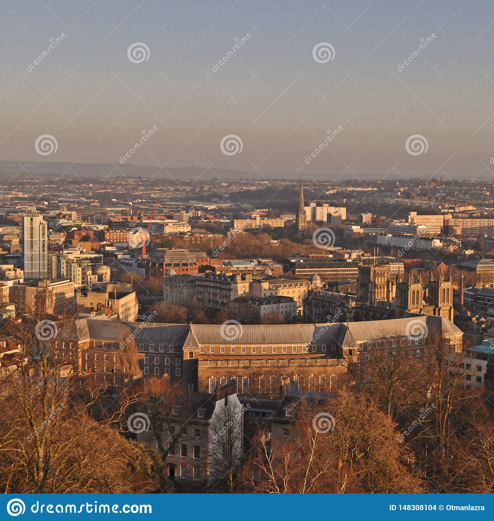 View Over Bristol, taken from Cabot Tower