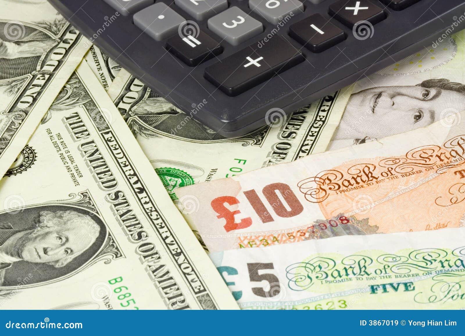 Británicos y pares del dinero en circulación de los E.E.U.U.