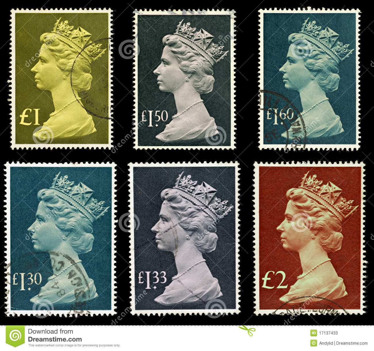 Britain Postage Stamps Stock Photos Image 17137433