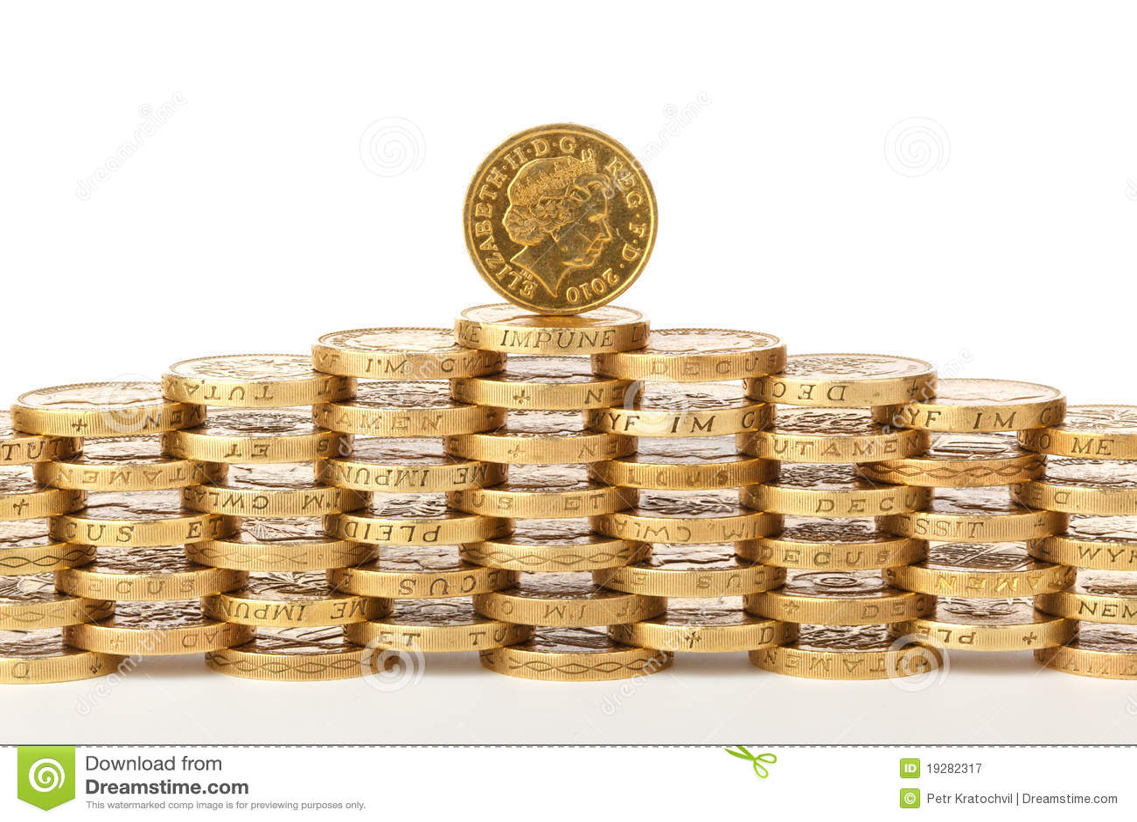 Briten 1 Pfund Münzen Stockbild Bild Von Münze Geld 19282317