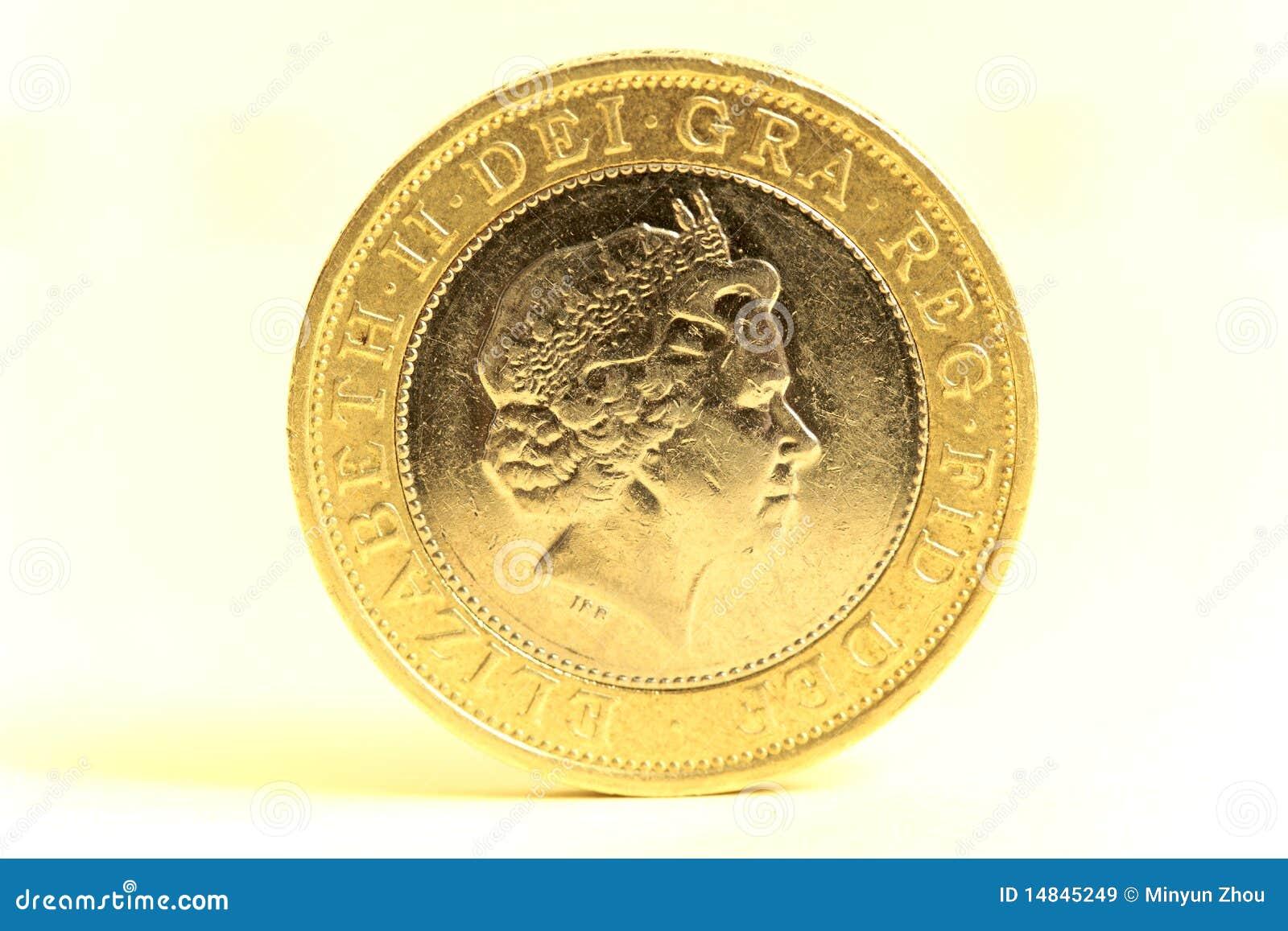 Britische Bargeld Zwei Pfund Münze Stockbild Bild Von Finanziell