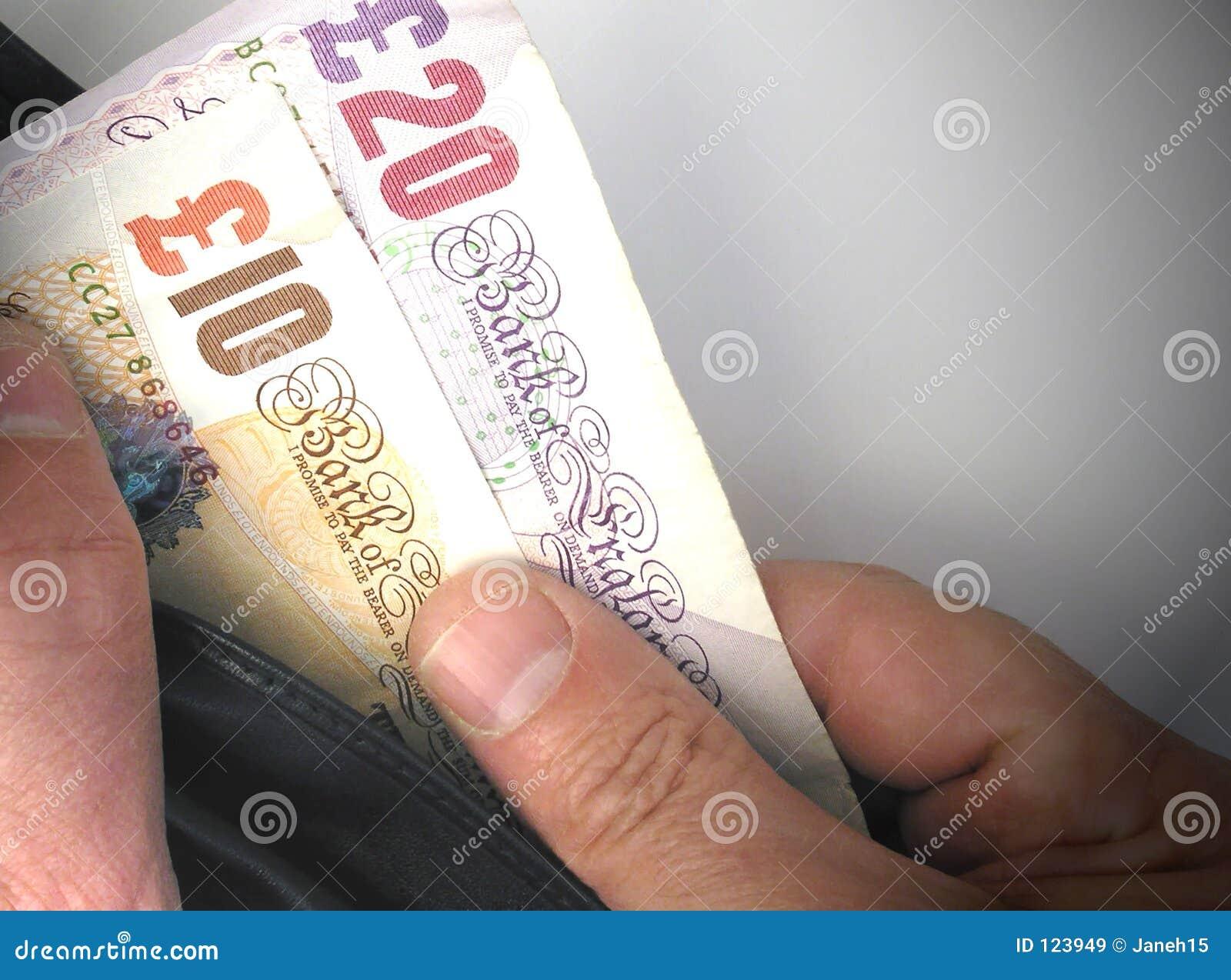 Britische Bargeldanmerkungen