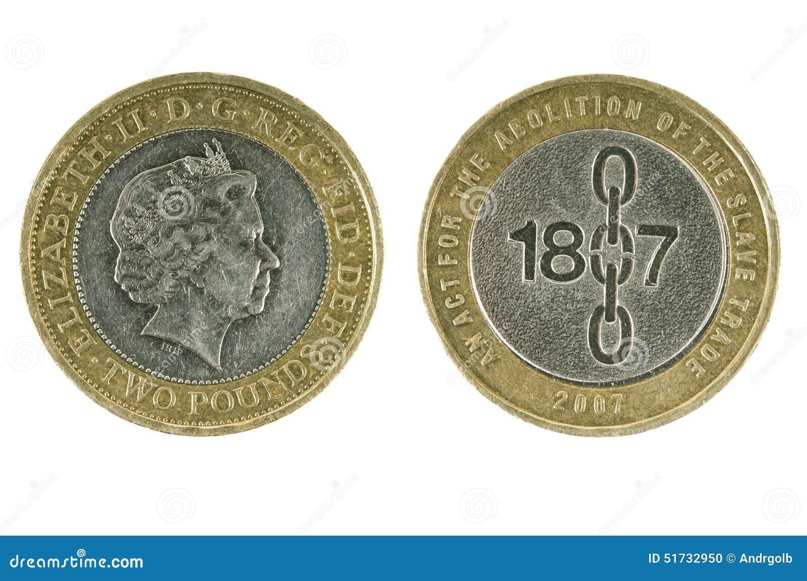 Britische Münze Zwei Pfund Redaktionelles Bild Bild Von Einzelteil