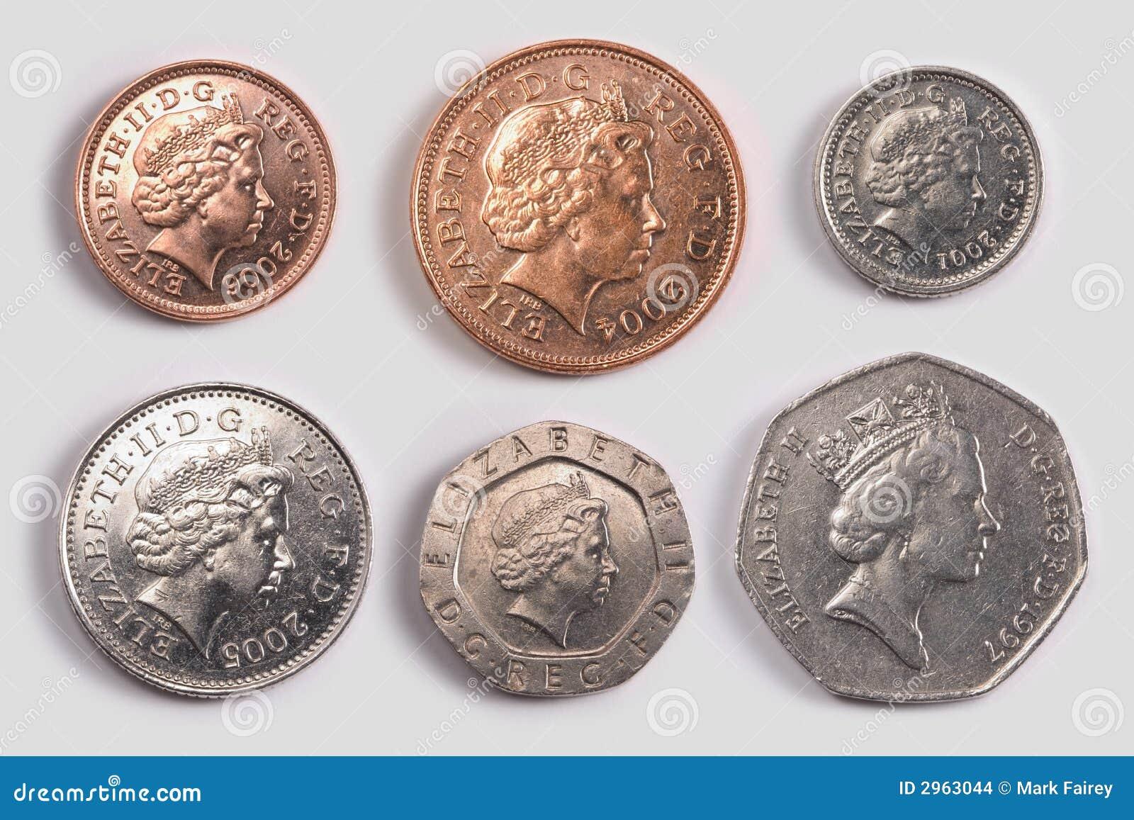 Britische Münzen Köpfe Stockfoto Bild Von Pennies Prägung 2963044