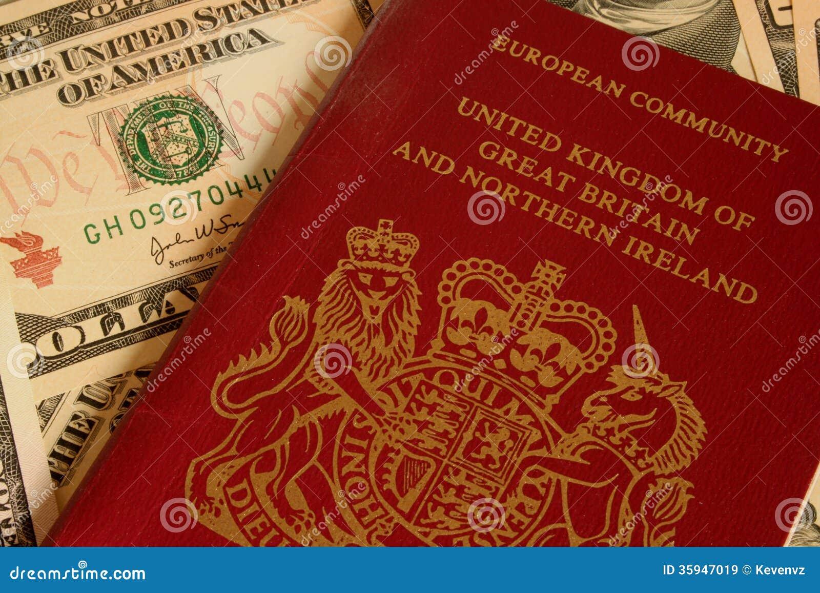 Britischer Pass und Währung