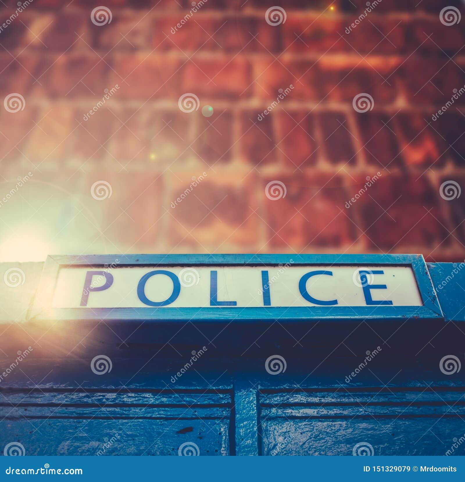 Britischer Polizei-Kasten