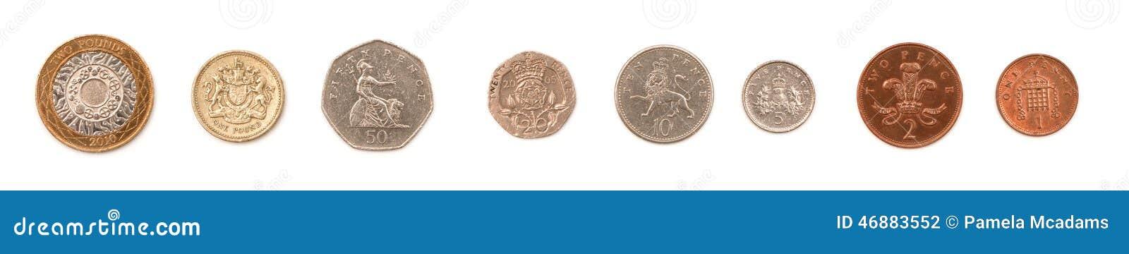 britisches geld stockfoto bild von penny tausenden 46883552. Black Bedroom Furniture Sets. Home Design Ideas