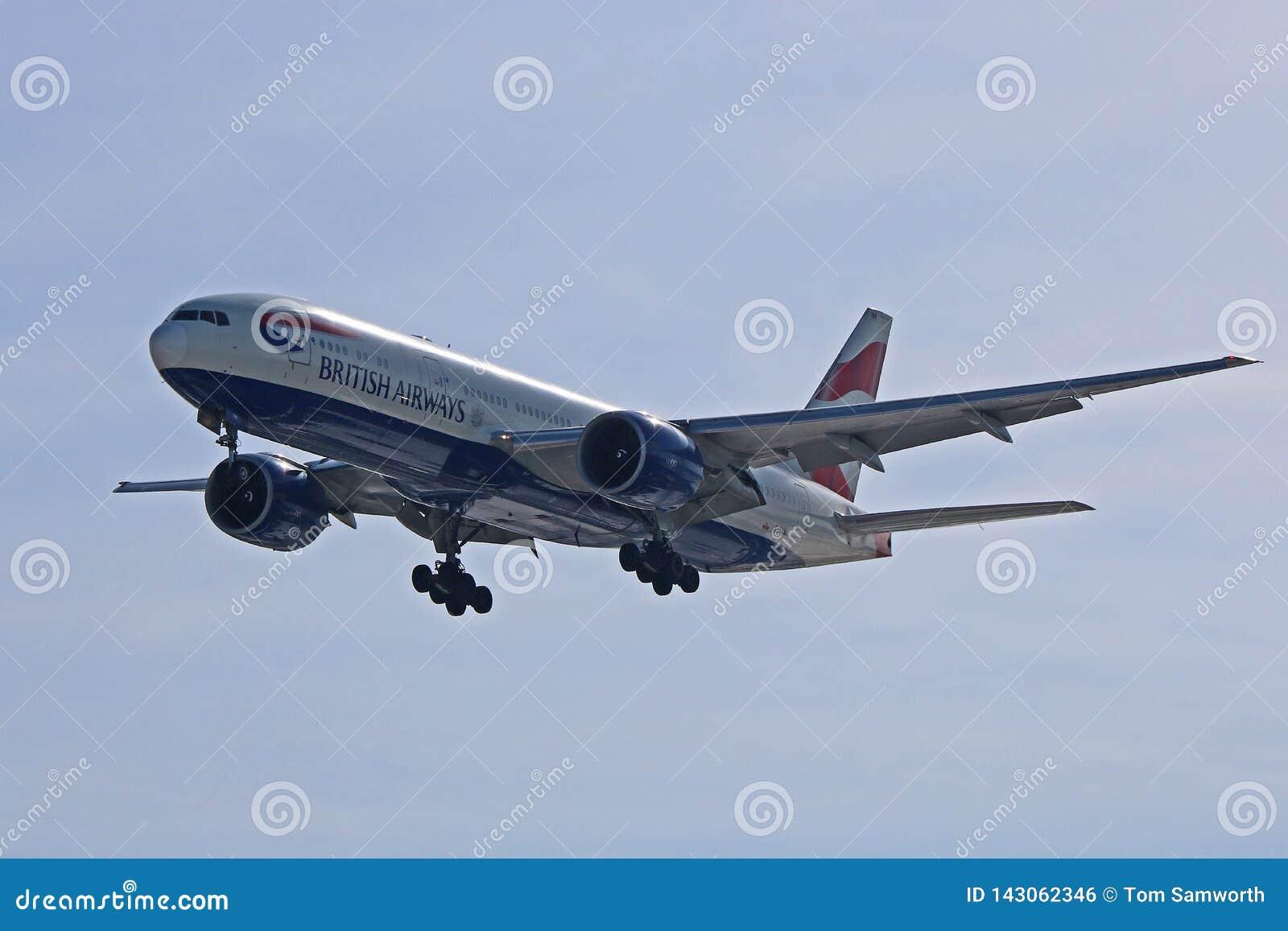 British Airways Boeing 777-200ER à l approche finale