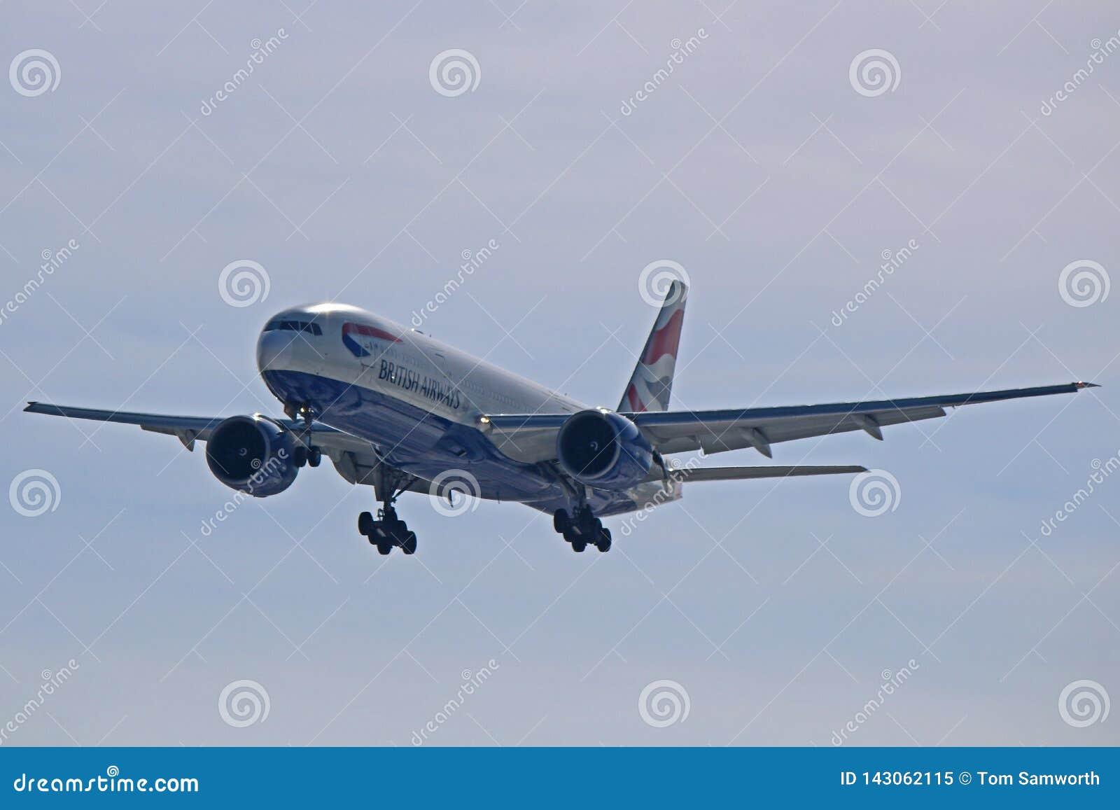 British Airways Boeing 777-200ER Front View