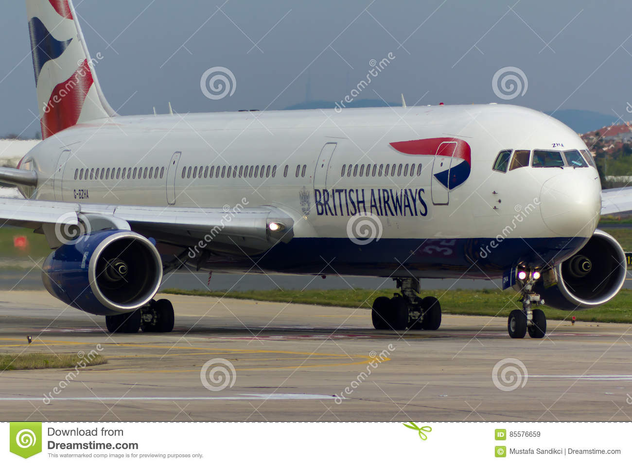 British Airways Boeing 767 Plane