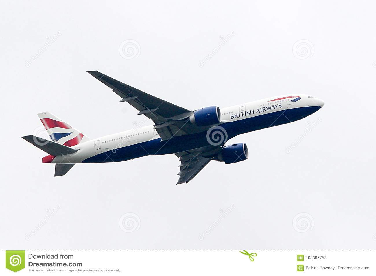 British Airways Boeing 777 taking-off