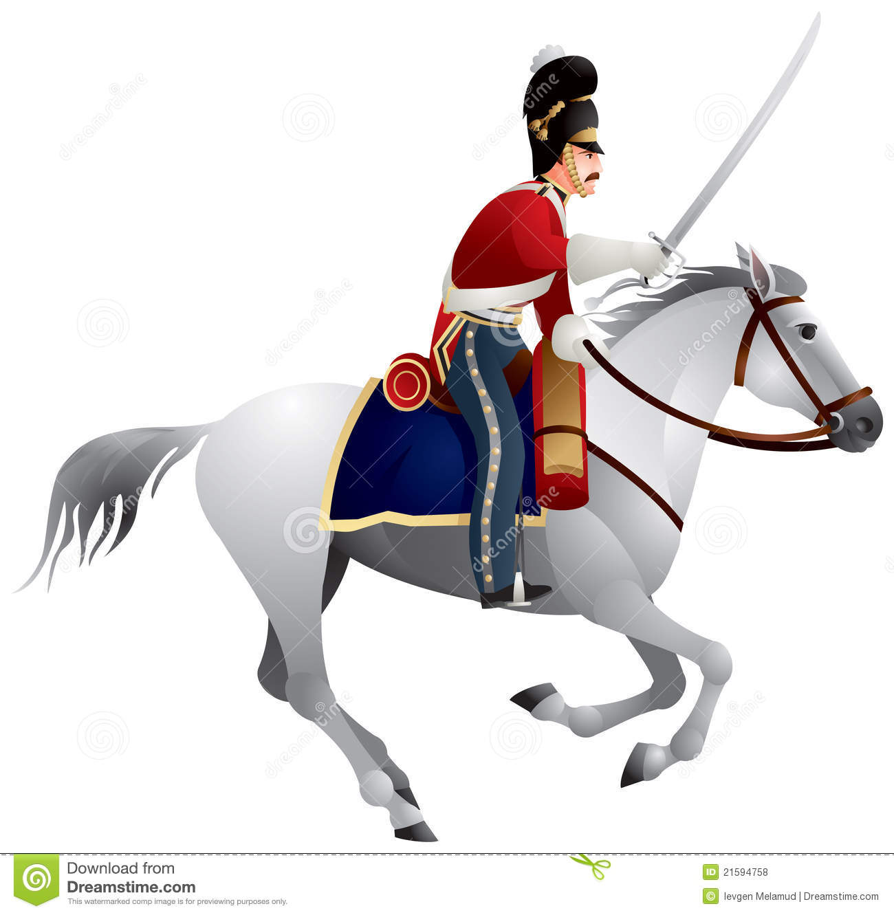 Royal Scots Greys British Army cavalry regiment, Napoleonic war times ...