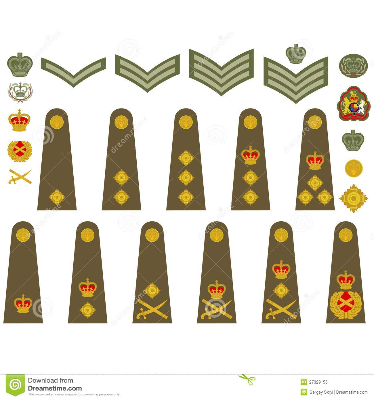 British Army Insignia Royalty Free Stock Image - Image: 27329156