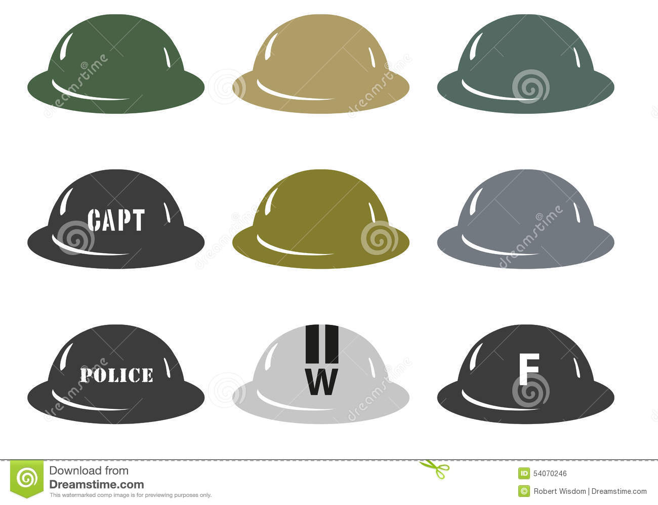 British Army Mkii Helmets Stock Illustration Image 54070246