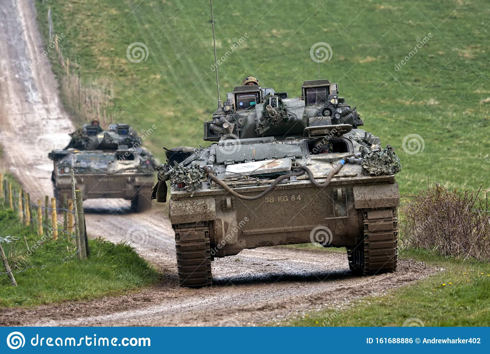 A British Army Warrior Infantry Fighting Vehicle Editorial Photo Image Of Light England 161688886