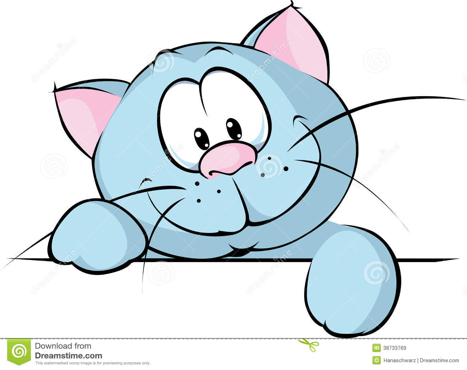 Blue+Cat+Cartoon Briti...