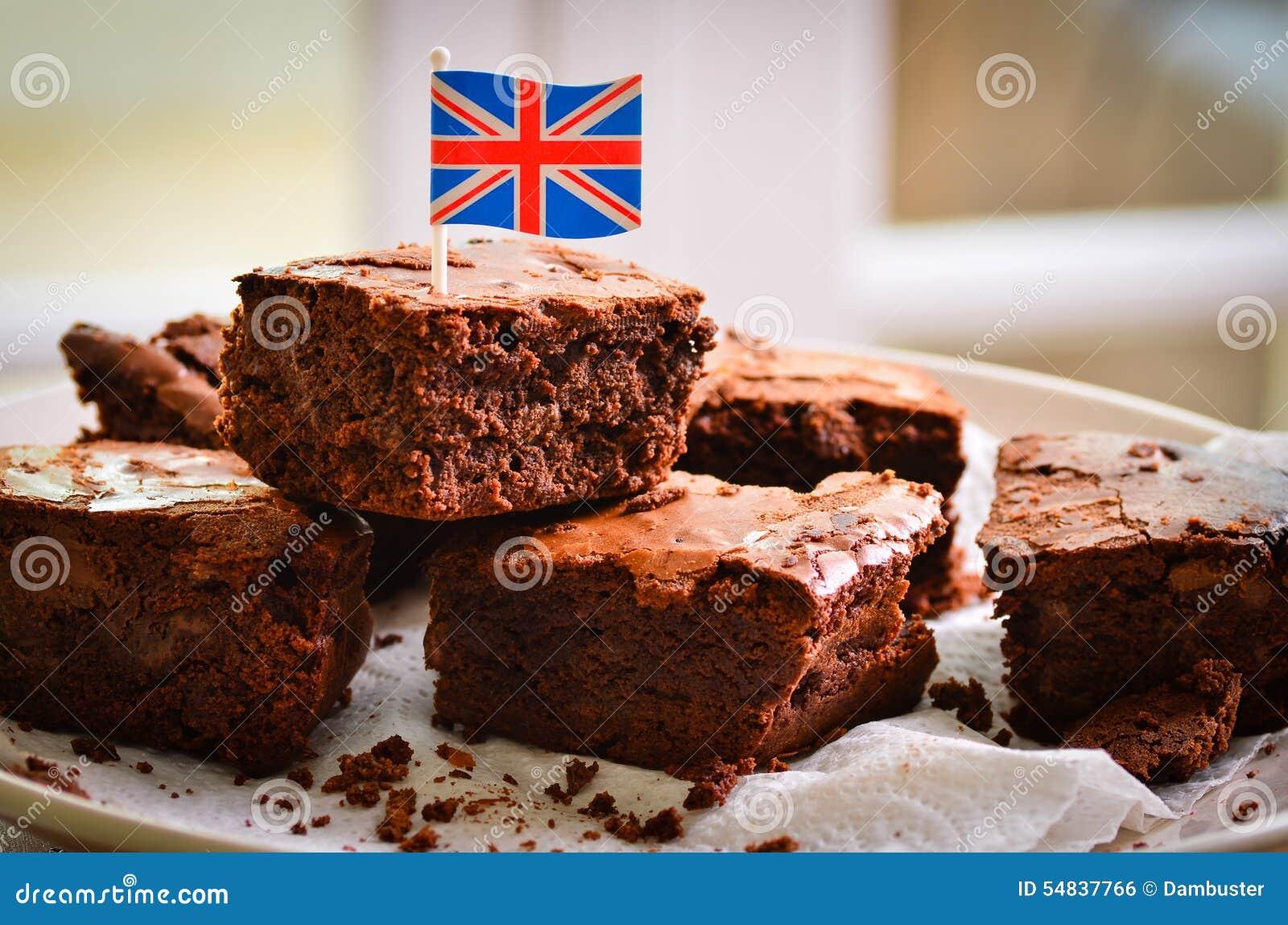 British Chocolate Brownies Stock Photo - Image: 54837766