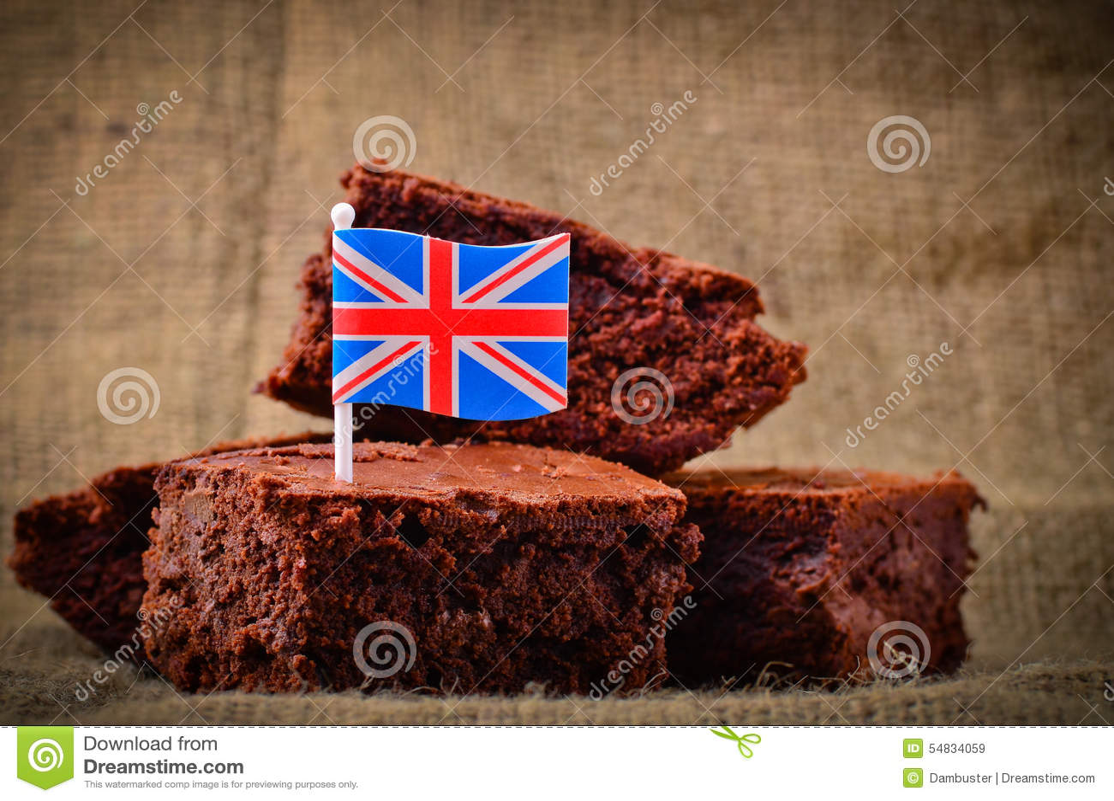 British Chocolate Brownies Stock Photo - Image: 54834059