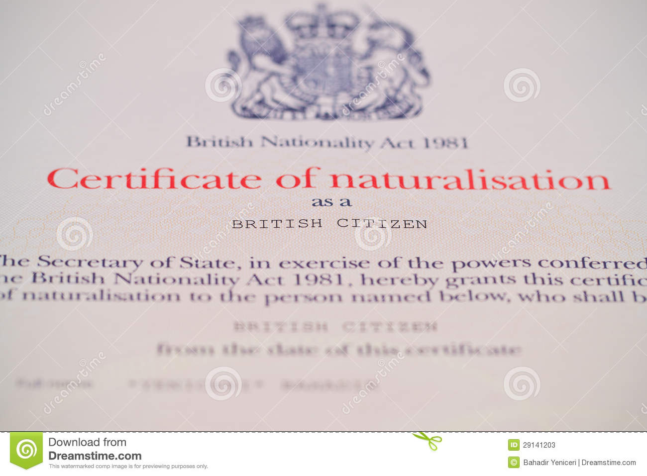 British citizenship certificate editorial stock photo image british citizenship certificate xflitez Image collections