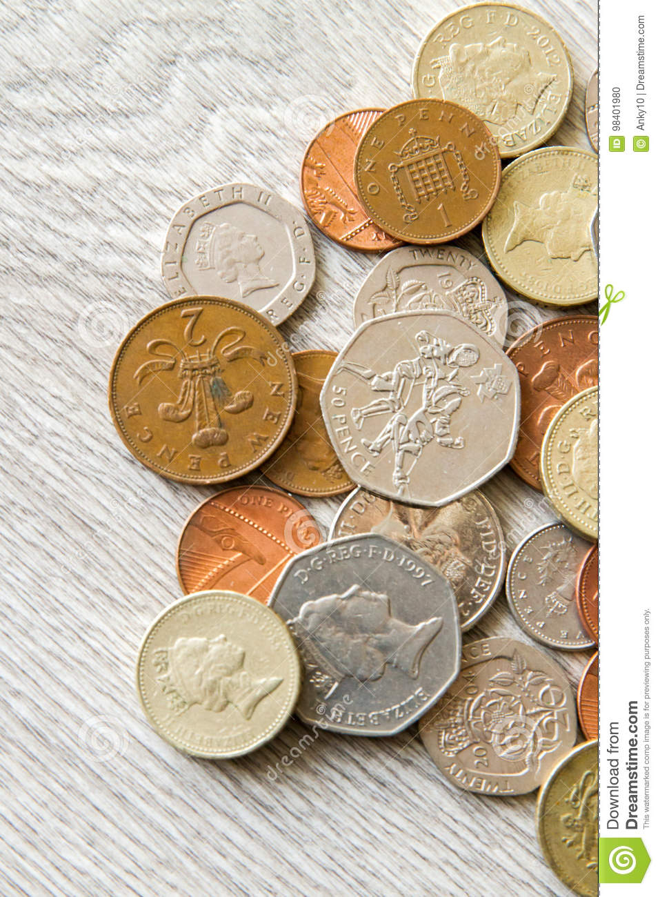 British coins editorial image  Image of pounds, british - 98401980