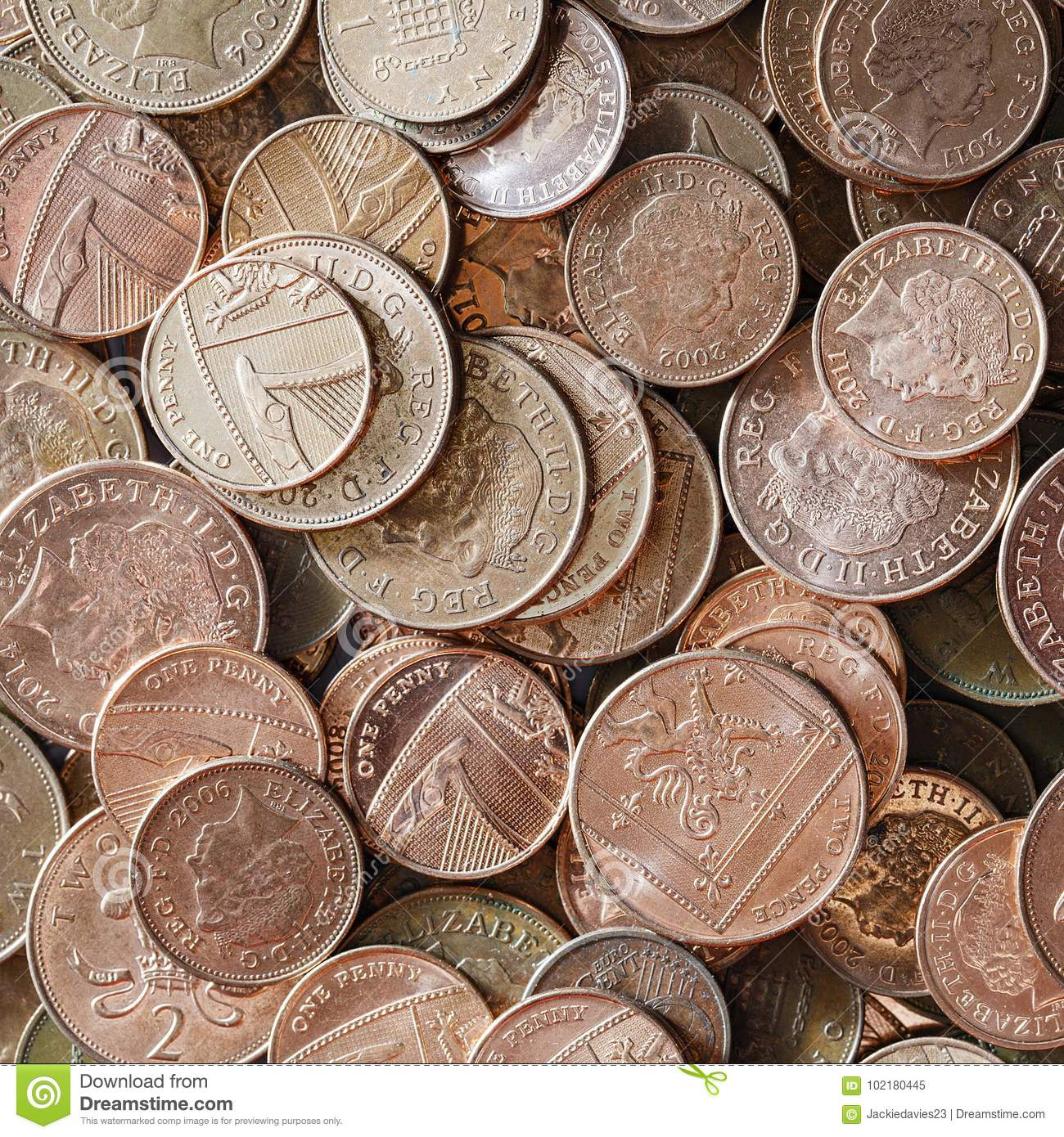 British Coins stock image  Image of cash, pence, british - 102180445