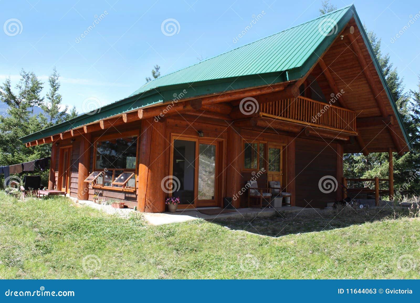 British Columbia Mountain Cabin Stock Photos Image 11644063