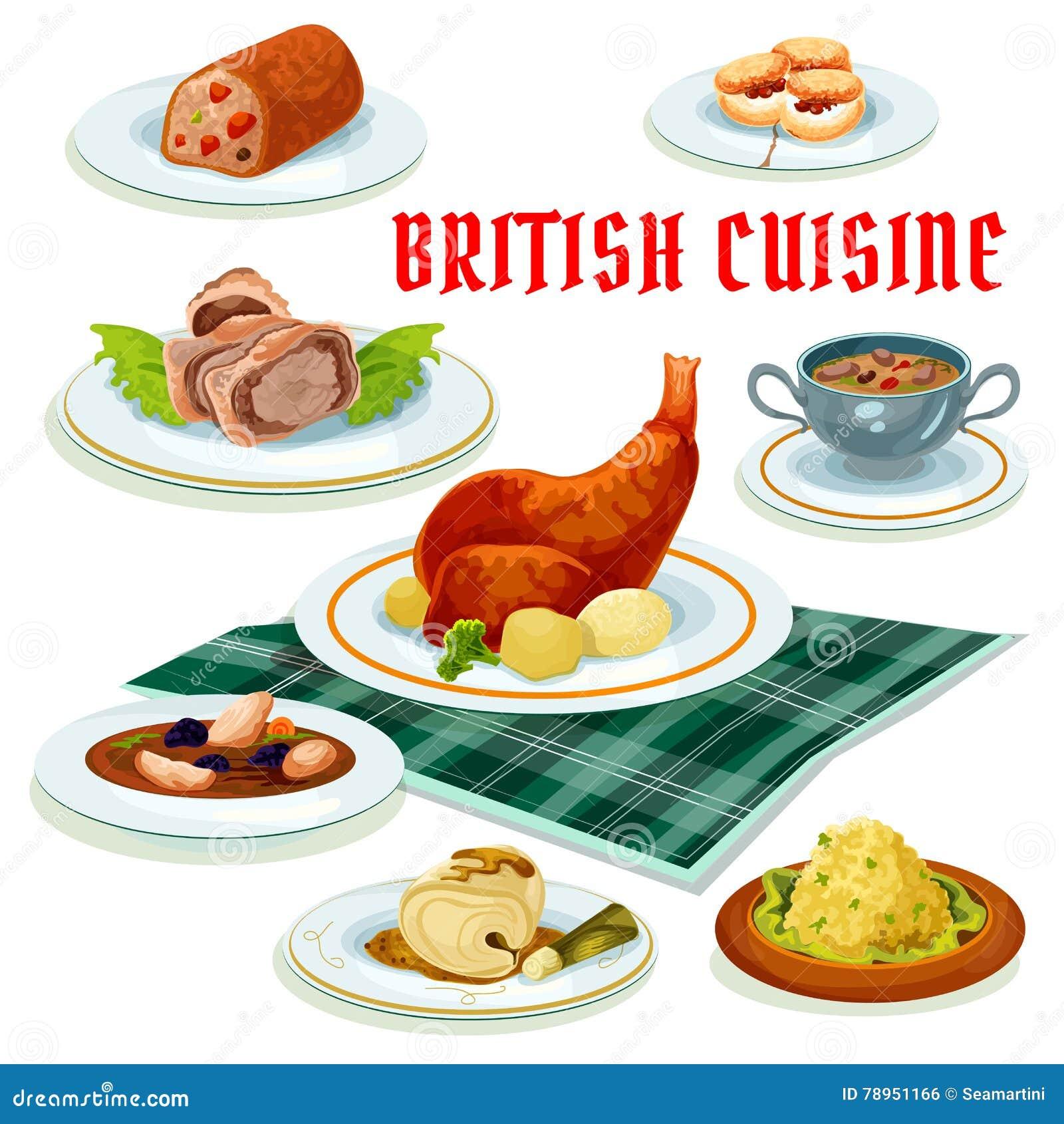 british cuisine cartoon icon for restaurant design stock vector illustration of menu dinner. Black Bedroom Furniture Sets. Home Design Ideas