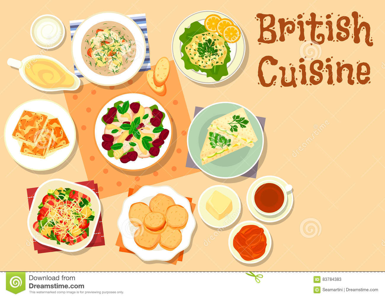 british cuisine traditional breakfast dishes icon stock vector image 83784383. Black Bedroom Furniture Sets. Home Design Ideas