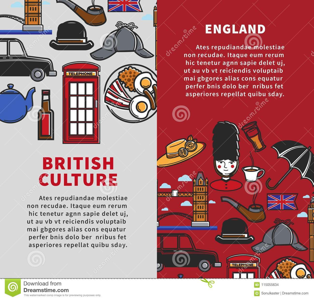 british culture vertical travel booklets with sample text editorial
