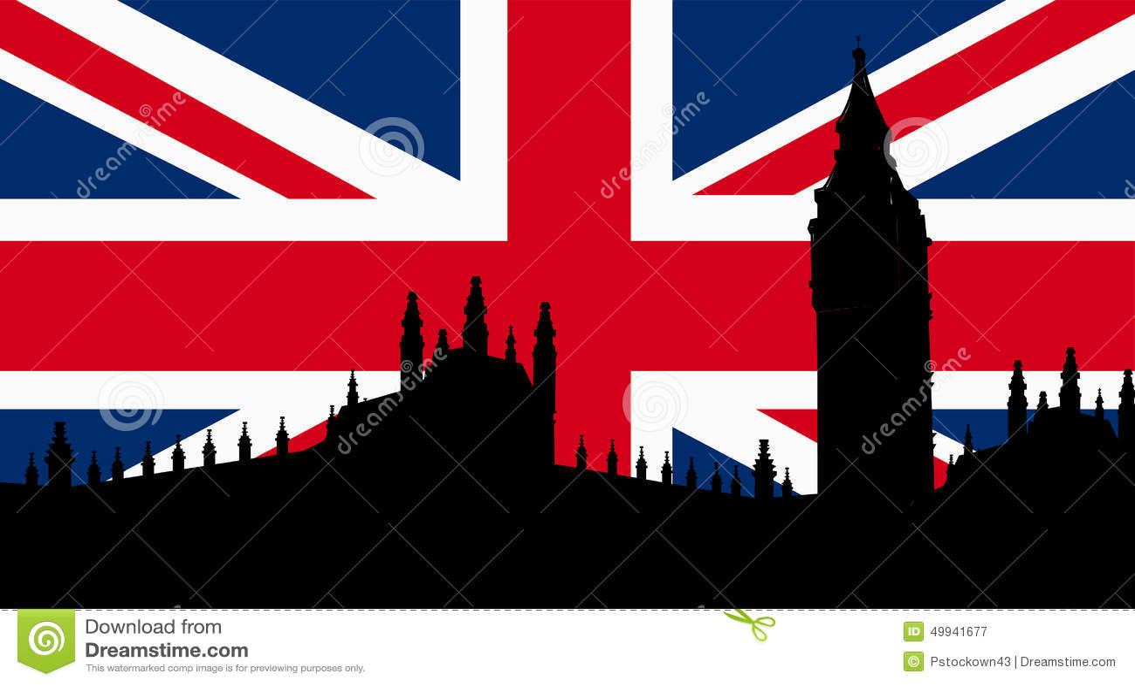 Old Fashioned British Flag
