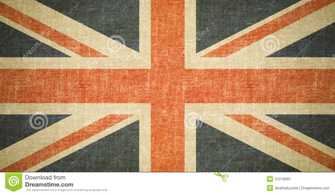 British Flag Background On Old Canvas Texture Stock Image Image Of Flag National 31216061