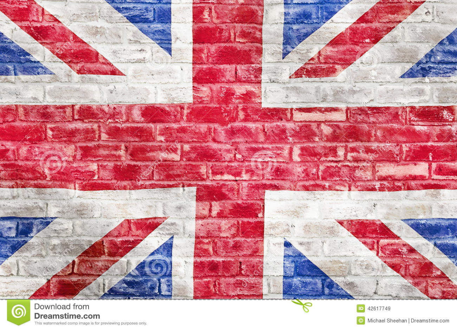 Vintage British Flag Wallpaper British flag on a brick wall