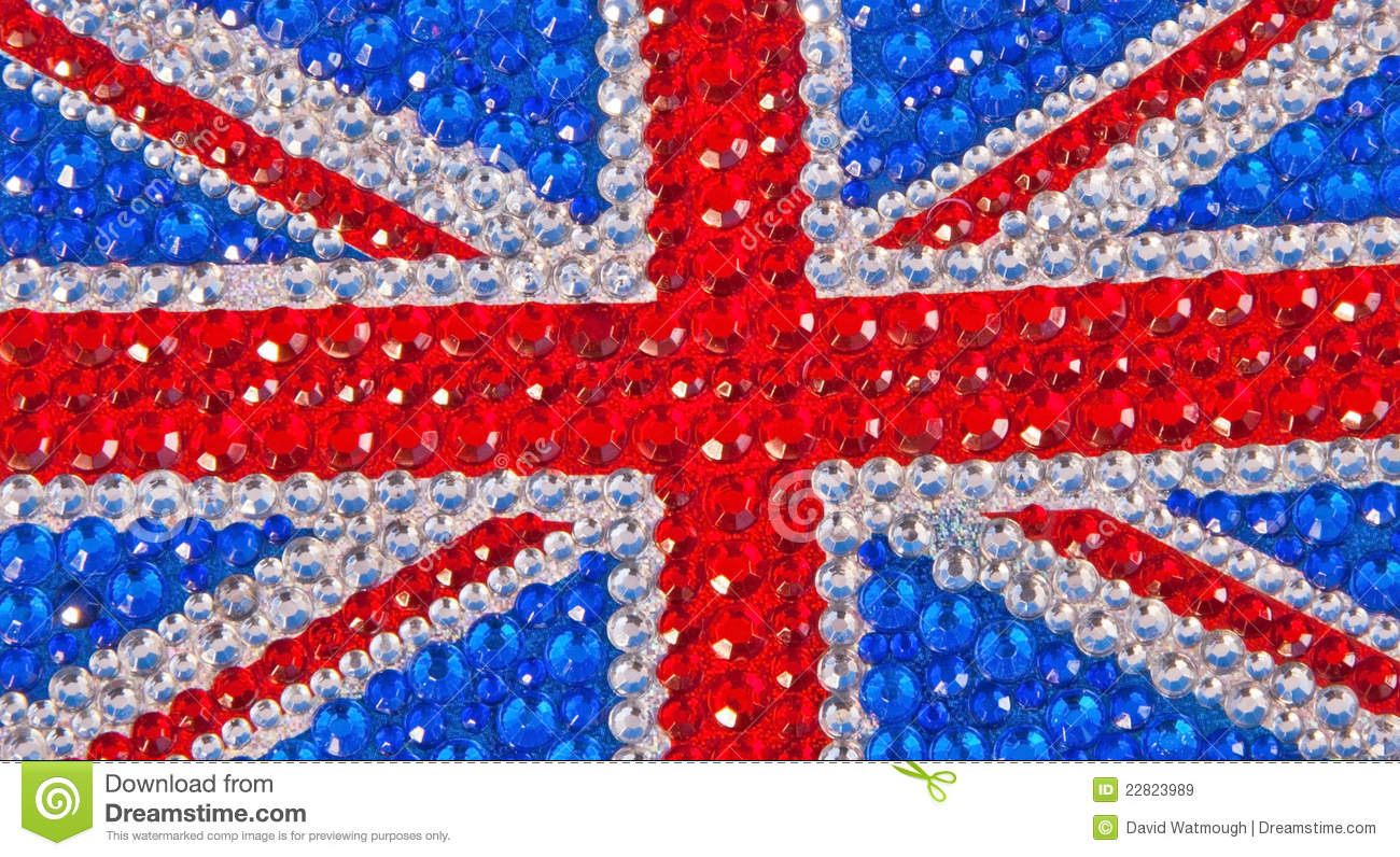 british flag designed with sparkle royalty free stock images