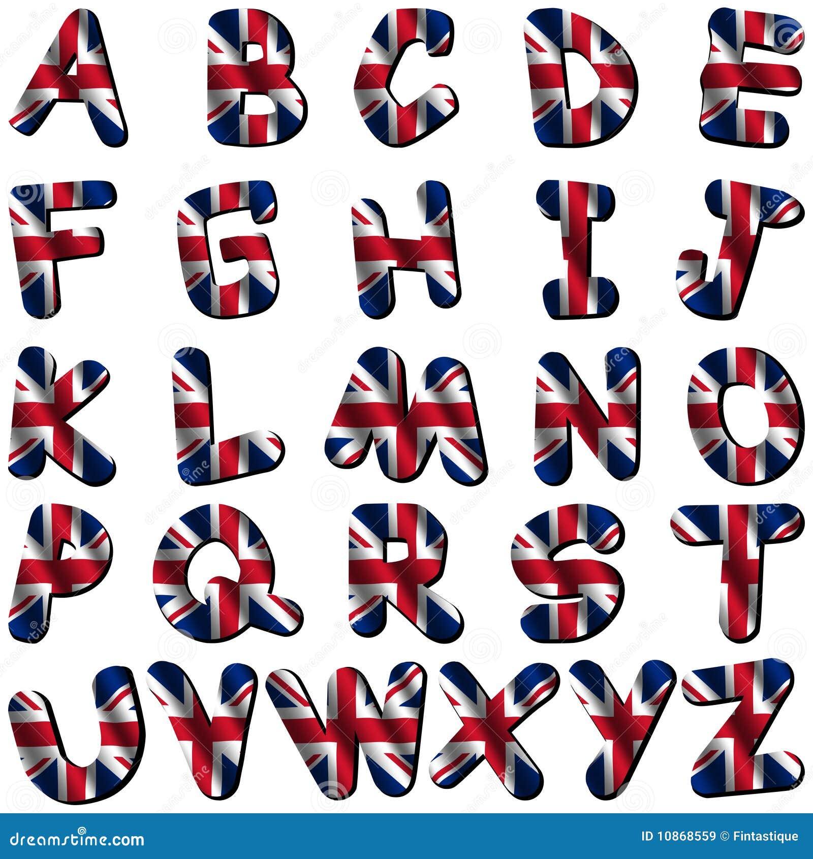 British Flag Font Royalty Free Stock Images - Image: 10868559