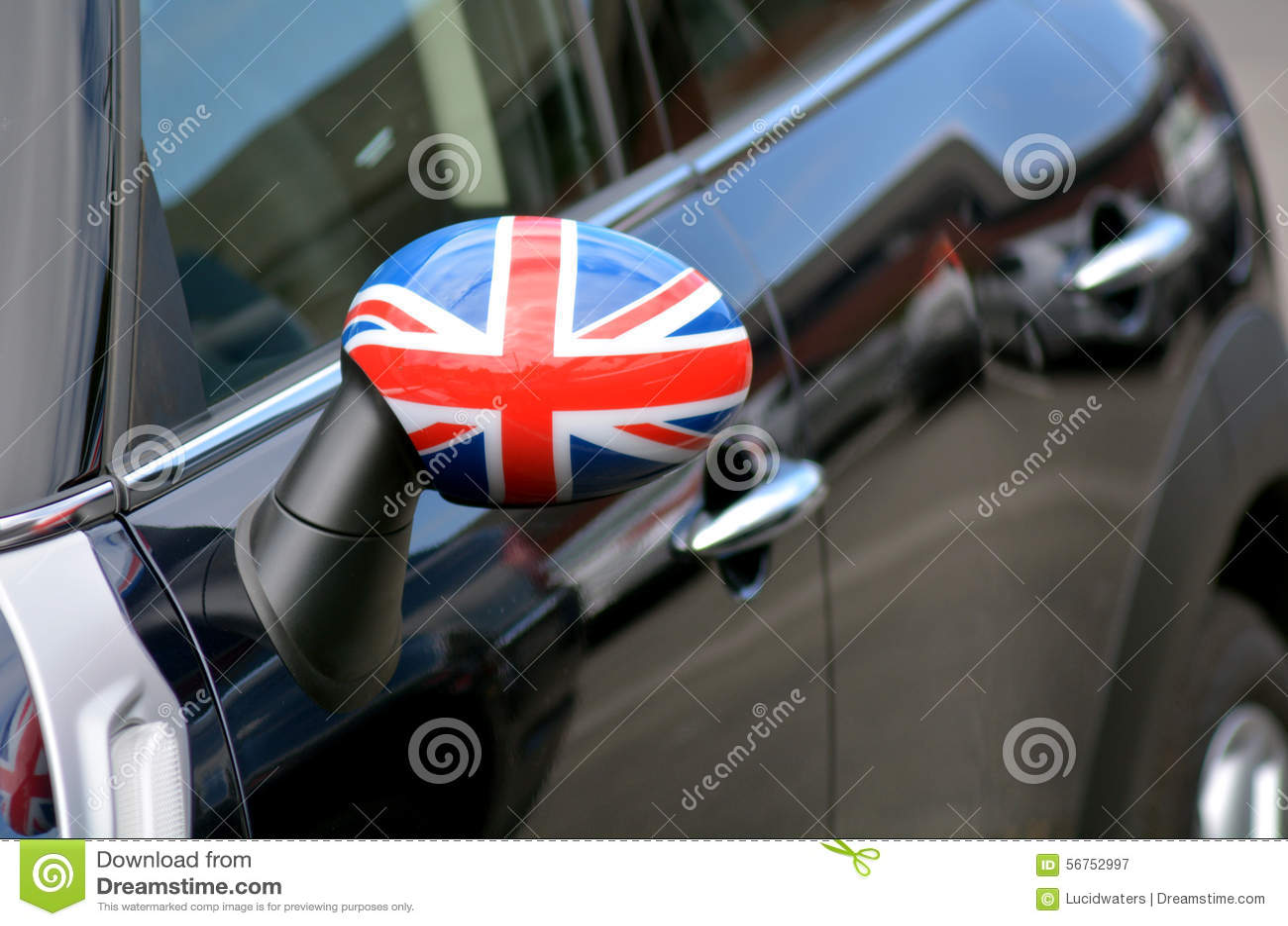 British Flag On Mini Stock Illustration Image 56752997